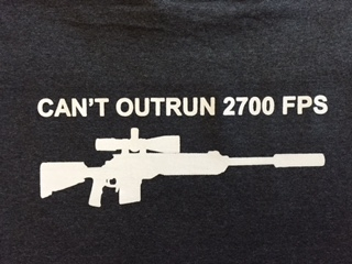 "7 T Shirt ""Can't Outrun 2700 FPS"""