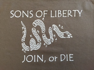 "D Cotton T Shirt ""Sons Of Liberty, Join Or Die"""